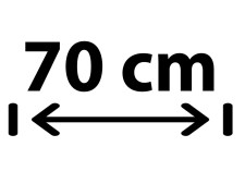 70 cm Breite