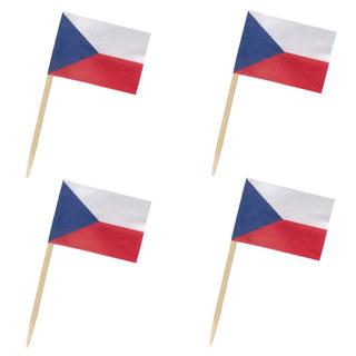 Flaggenpicker Deko-Picker Land Tschechien,  50 Stk.