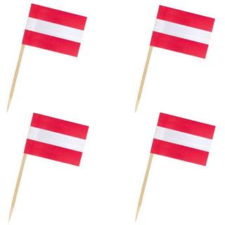 Flaggenpicker Deko-Picker Land Österreich,  50 Stk.