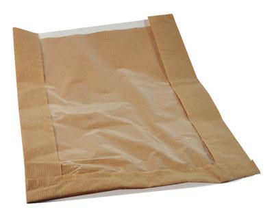 Papierfaltenbeutel für Brotlaib rund 26 + 7 x 40 cm, ...