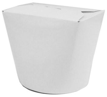 Papier Food-Box Take Away Box, beschichtet weiß 16oz, ...