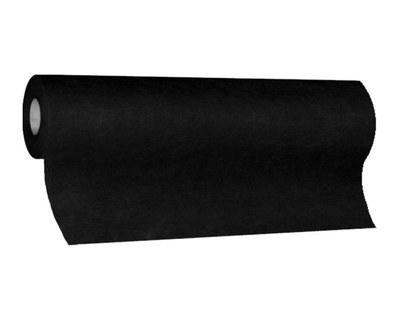 Tischläufer Airlaid 24m x 40cm - alle 120cm perforiert, stoffähnlich, schwarz