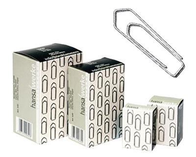 ALC O INDE X Büroklammern 21mm, glanzverzinkt, 1000 Stk.