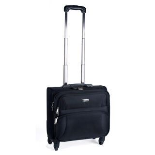 Pilotenkoffer Aktenkoffer Businesskoffer Reisekoffer, Skaterrollen schwarz, 22L