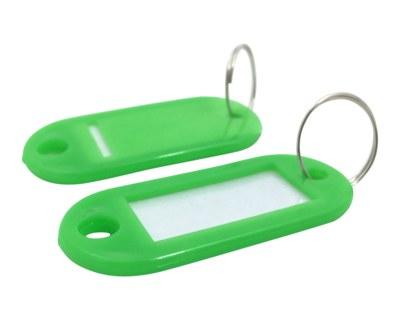 Schlüsselanhänger mit Schlüsselring und Einleger GRÜN