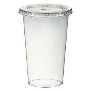 Smoothiesbecher inkl. Deckel mit Schlitz 500 ml, O 95mm, PET, glasklar, 50 Stk.