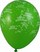 Luftballons Happy Birthday Ø 300 mm, Größe L,   5 Stk.