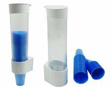 MultiCup Becherspender aus Kunststoff für Trinkbecher Ø 70mm, weiß
