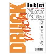 DRUCKmich RC (Resin Coated) high glossy Fotopapier 210gr/m², für A3, 50 Stk.