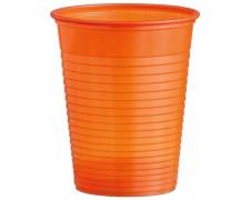 Trinkbecher Partybecher orange 180 ml, aus PS, Ø 70 mm, 10 Stk.