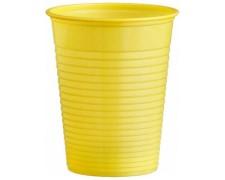Trinkbecher Partybecher gelb 180 ml, aus PS, Ø 70 mm, 10 Stk.