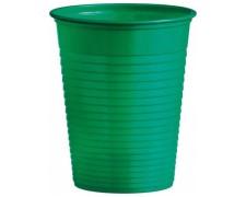 Trinkbecher Partybecher grün 180 ml, aus PS, Ø 70 mm, 10 Stk.
