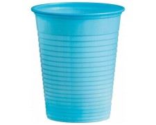 Trinkbecher Partybecher hellblau 180 ml, aus PS, Ø 70 mm, 10 Stk.