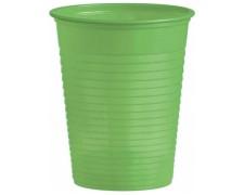 Trinkbecher Partybecher gelbgrün 180 ml, aus PS, Ø 70 mm, 10 Stk.