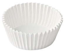 Gebäckkapseln Minimuffin-Kapseln weiß, Ø 35 x 20 mm, 100 Stk.
