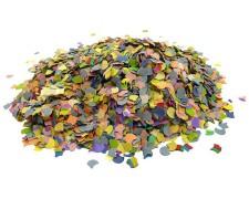 Papierkonfetti bunt gemischt 100gr.