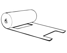 Knotenbeutel 3 kg HDPE transparent, 390 x 225mm, gerollt, 250 Stk.