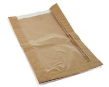 Papierfaltenbeutel für Gebäck 18 + 6 x 32 cm, mit Fenster 13cm, 1000 Stk.