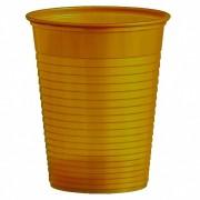 Trinkbecher Partybecher gold 180 ml, aus PS, Ø 70 mm, 50 Stk.
