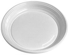Teller flach, weiß aus PS, rund Ø 20,5 cm, 100 Stk.