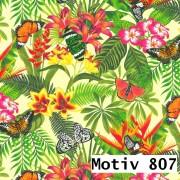 Geschenkpapier Exclusiv  70 cm x 200 m | Motiv 807 Blumen Jungle