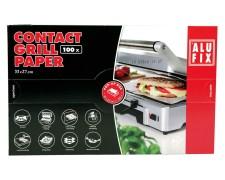 ALUFIX Kontaktgrillpapier 33x27 cm Einlage für Kontaktgrill beschichtet 100 Stk.