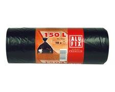 ALUFIX Müllsäcke Premium 150 L, HDPE 78x105 cm 37my, schwarz, 10 Stk.
