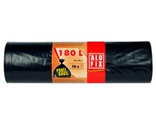 ALUFIX Profi Bags Müllsäcke Müllbeutel LDPE 180 L, 80x120cm, schwarz 10 Stk.