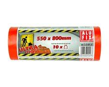 ALUFIX Bauschuttsäcke Schwergut Müllbeutel 70 Liter 550x800mm orange, 10 Stk.