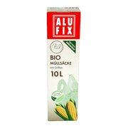 ALUFIX Biomüllsäcke Biomüllbeutel 10L mit Tragegriff biologisch abbaubar 15 Stk.