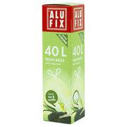 ALUFIX Duft Müllsäcke mit Zugband  40 L, 53x60cm schwarzer Tee & Vanille, 12 Stk.