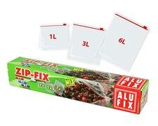 ALUFIX Tiefkühlsäcke Haushaltsäcke mit Zipp, 1liter 3liter und 6liter, 15 Stk.