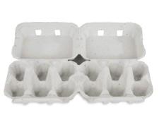 Eierverpackung für 2x6 Eier, uni weiß, 130 Stk., für S, M, L