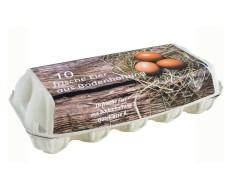 Eierverpackung für 10 Eier, Bodenhaltung, weiß, 154 Stk., geeignet für S, M, L