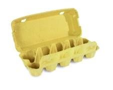 Eierverpackung für 10 Eier, uni gelb, 154 Stk., für S, M, L