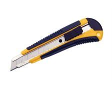 Profi-Schneidemesser Cutter, Metallführung gummierter Griff, extra stabil