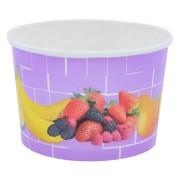 Eisbecher, Pappe rund 220 ml Ø 85mm, Höhe 55mm, Fruchtreigen,  45 Stk.