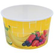 Eisbecher, Pappe rund 260 ml Ø 92mm, Höhe 55mm, Fruchtreigen,  50 Stk.