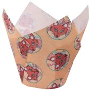 Muffin-Tulip-Wraps, Fuchs, 160x160 mm, 24 Stk.