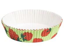 Tarte-Backform Quiche Obstkuchen, Erdbeere, fettdicht backfest 75x20 mm 12 Stk.