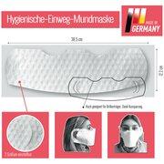 Hygienische Einweg Mundmaske Mund- und Nasenschutz weiß 3-lagig,  50 Stk.