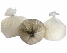 Müllsäcke Müllbeutel LDPE 70 L, 630 x 850 mm, 14 my, weiss, 40 Stk.