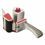 Handabroller T512 mit stufenlos regulierbarer Abrollbremse für 75mm Bänder