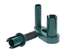Abroller-Griffset für Handwickelfolie Stretchfolie, Kunststoff grün