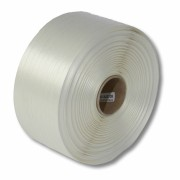 Textil-Umreifungsband, weiss, Polyester,  16 mm Breite, 850 meter auf Rolle