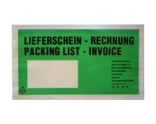 Dokumententaschen *Lieferschein/Rechnung* DIN Lang 235x130mm grün, 1000 Stk.