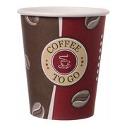 Kaffeebecher Topline, 'Coffee to go', Pappe beschichtet,  8oz., 200 ml, 50 Stk.