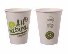 BIO Kaffeebecher Coffee to go ALL NATURAL - Zero Plastic 400ml Ø90mm,  50Stk.
