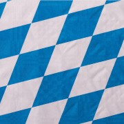 Damasttischdecke Tischtuch bayerischer Raute gerollt 1,00m x  10m, blau weiß