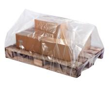 Palettenhaube aus Recyclat 1250 x 950 x 1500mm transparent trüb, 50my, 50 Stk.